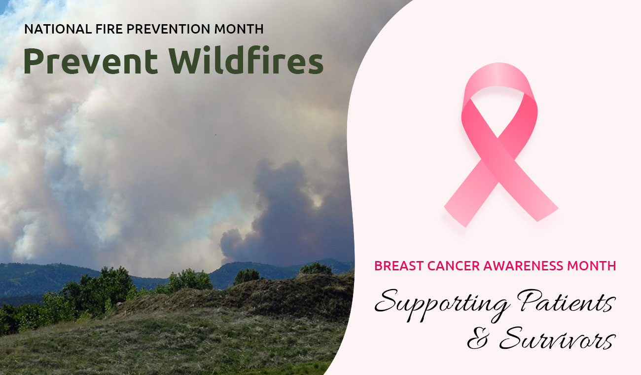 October is Breast Cancer Awareness & Wildfire Prevention Month!
